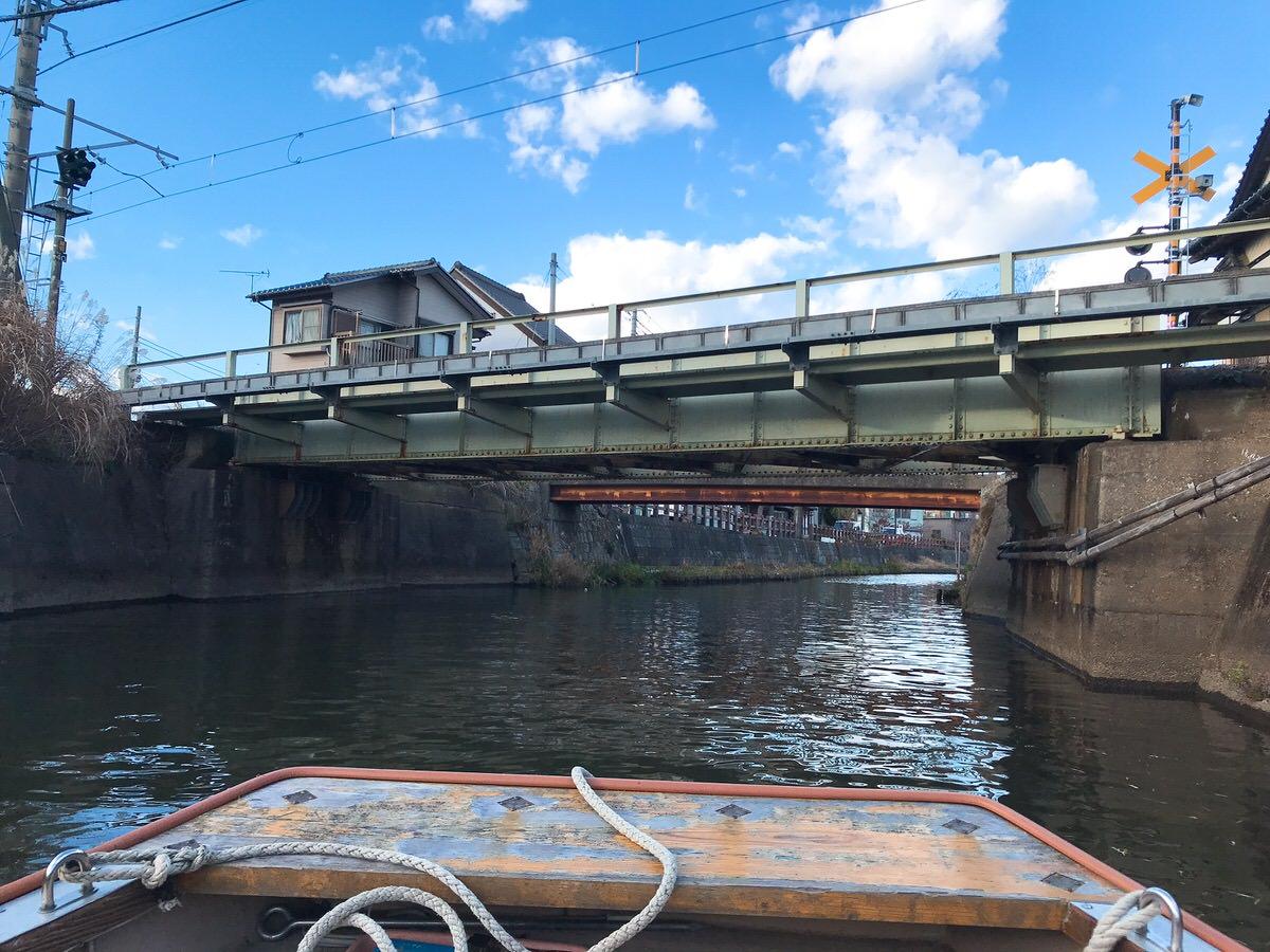 佐原・鹿島神宮旅行15:鉄橋の下をくぐる