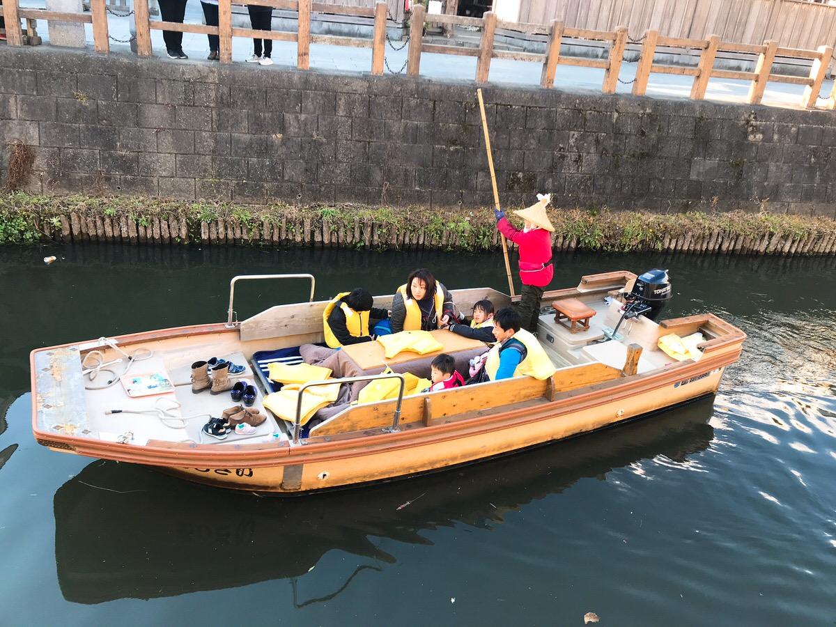 佐原・鹿島神宮旅行12:水郷を走る小舟