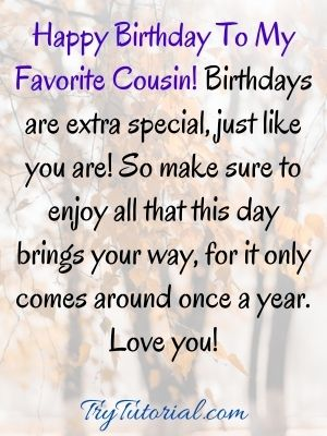 90 Special Happy Birthday Cousin Images For Wishes 2021 Trytutorial