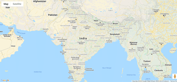 Google Map hide all default control