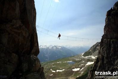 Via Ferrata Eggishorn - balancing above the precipice