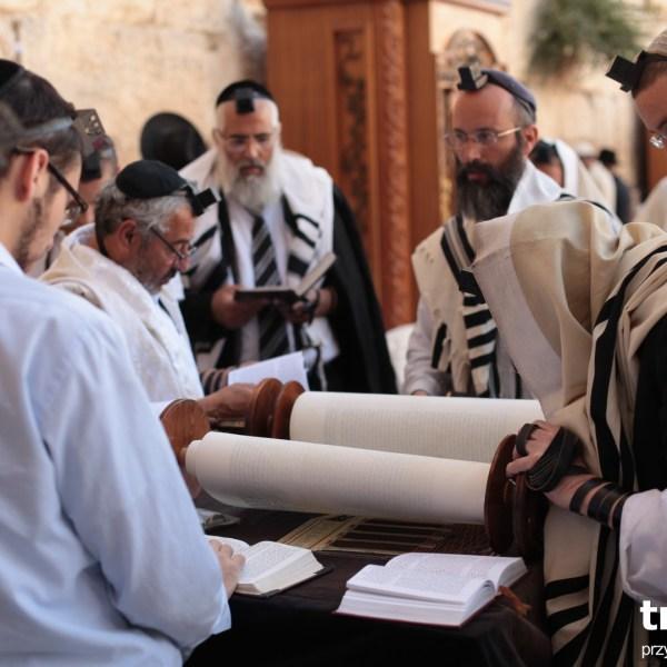 Czytanie Tory pod Zachodnią Ścianą, Jerozolima, Izrael