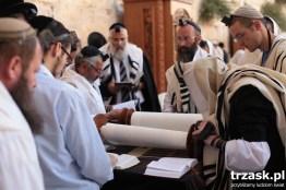 Reading the Torah at the Western Wall, Jerusalem, Israel