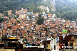 Favela Rocinha seen from above. Strolling through its streets is an entirely different aesthetic experience