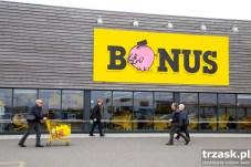 "The supermarket ""Bonus ""- something like Polish ""Biedronka"""