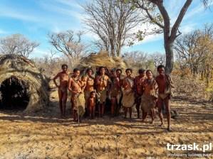W wiosce Buszmenów Namibia5