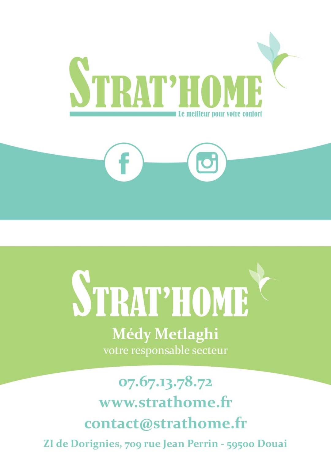Carte de visite Strat'Home