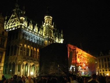 Koncert a Grand place-on