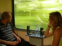 Haza felé a vonaton