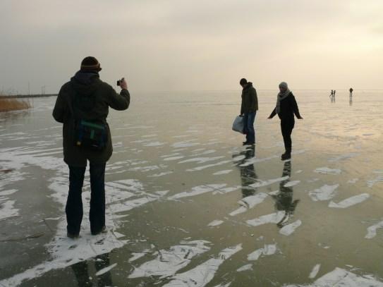 Turisták a jégen