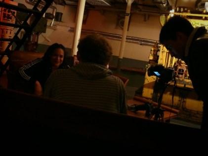 Sena interjú közben