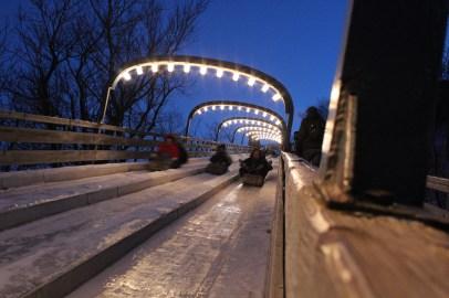 Quebec szankopalya / piste de luge