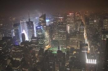 New York City Uptown by night