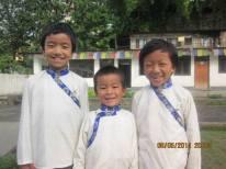 Les 3 plus grands à l'école : Pashi, Tshering et Chhoti