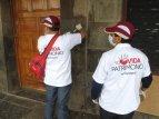 Nettoyeurs de monuments, évènement classique au mois de juin à Cusco