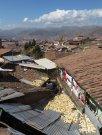 Mais séchant dans la montée pour sortir de Cusco
