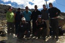 Groupetto au départ du Camp de base du Paso Zongo