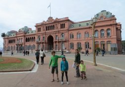 """La """"Maison Rose"""", ou Casa Rosada, le siège du gouvernement argentin"""