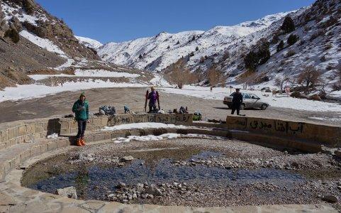 La source amménagé de Cheshmeh KuhGol