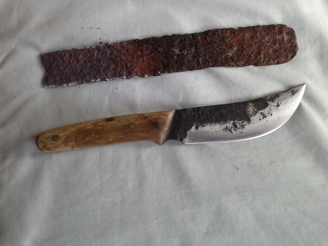 Hand Forged Buggy Seat Spring Knife