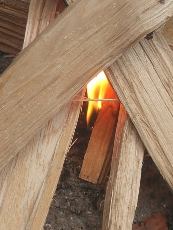 Fire Fuse and Fatwood Stick