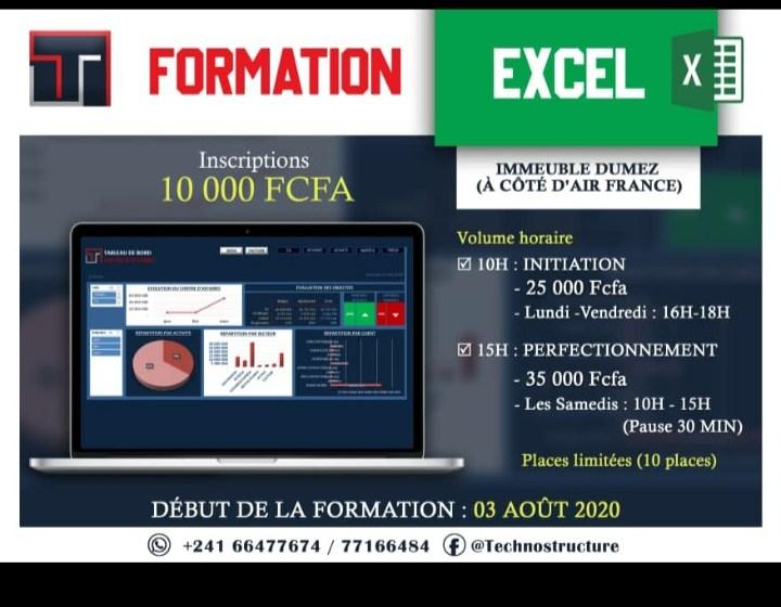 Connaissance de logiciels: TechnoStructure organise une formation sur Excel