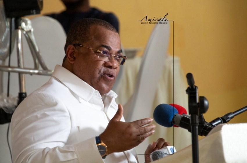 Julien Nkoghé Békalé a présenté les vœux de nouvel an et le compte rendu parlementaire à la communauté politique de Ntoum
