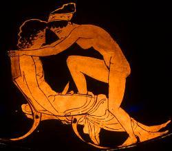 Ερωτική σκηνή σε οινοχόη του 430 π.Χ. (Παλαιό Μουσείο,Βερολίνο)