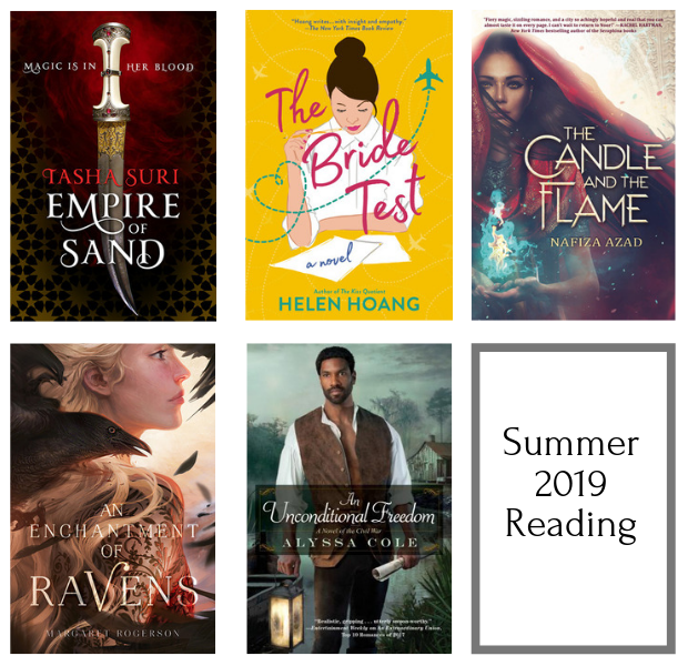 Summer 2019 Reading. Book cover images.