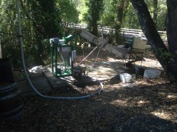 Cleaning and pulverizing apples at The Apple Farm in Philo, CA