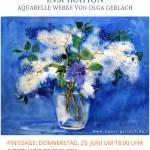 """Donnerstag, 23. Juni 2016, 18:00 Finissage """"Inspiration"""" Aquarelle Werke von Olga Gerlach"""