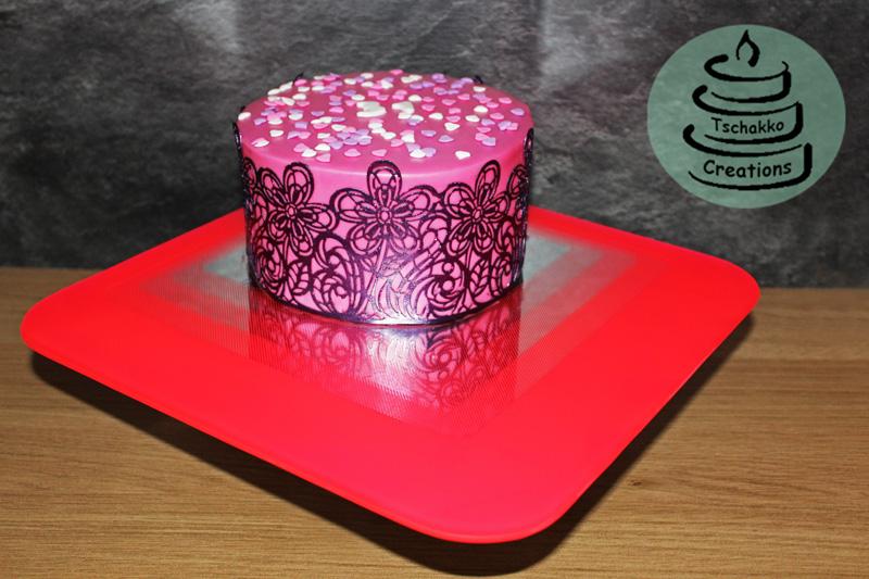 Tussi-Torte 3 Spiegel-Tortenplatte