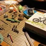 Fahrrad-Torte (Nusskuchen mit Kirsch)