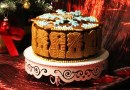 Spekulatius-Torte mit Glühkirschfüllung