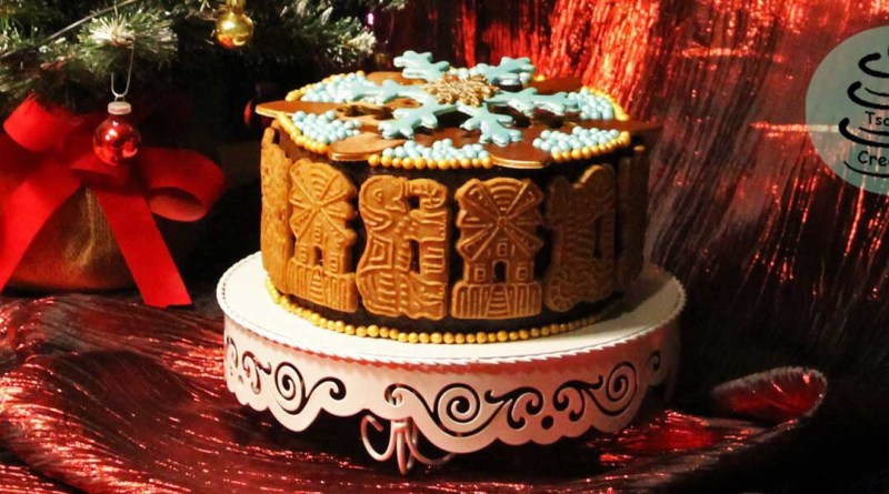 Spekulatius-Torte mit Glühkirsch-Füllung