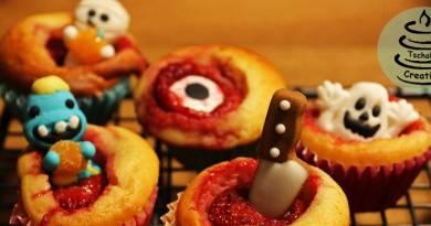 Süßes oder Saueres? – Gruselige Erdbeer-MiniMuffins