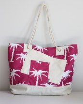 Beach Bag XL, Pink Palm Trees $50