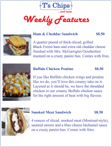 Weekly Features July 8 to 14, 2016