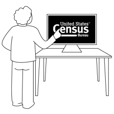 person on census website