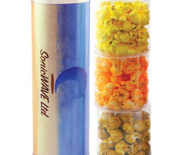 Three Tube Stack With Popcorn