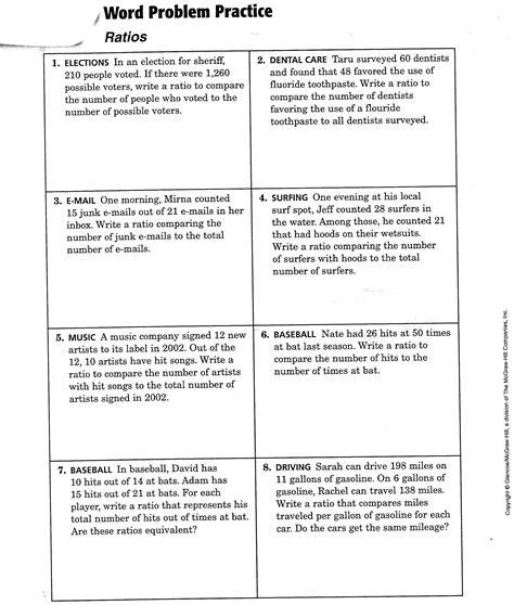 proportion worksheet 7th grade printable worksheets activities teachers