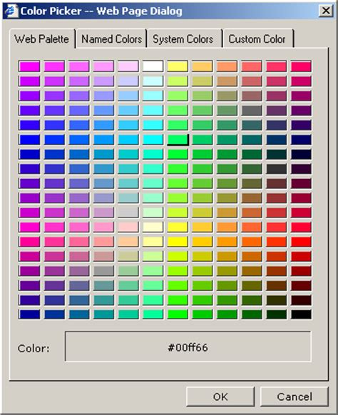 color picker control web site html component htc