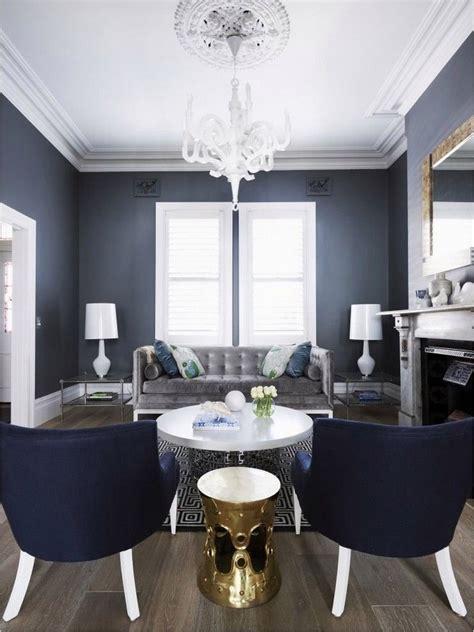 40 beautiful navy blue white living room ideas