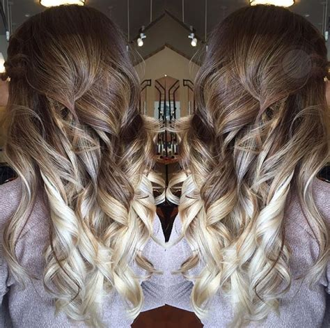 brunette transition platinum ombre hairstyle color eclipse salon