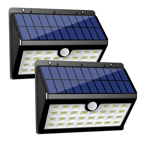 innogear solar lights 30 led wall light outdoor