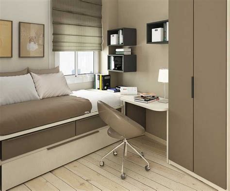 light brown small bedroom ideas single bed