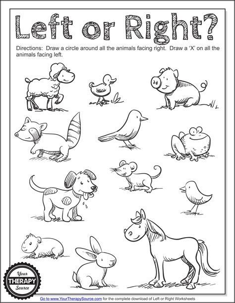 left worksheets laterality directionality preschool worksheets kindergarten
