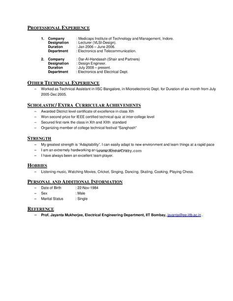 Resume Exles Hobies.html
