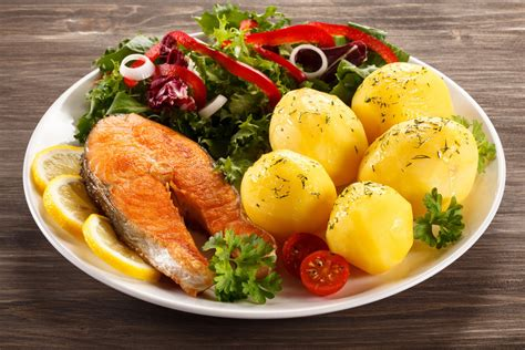 main dishes fish potatoes lemon lima vegetables dish