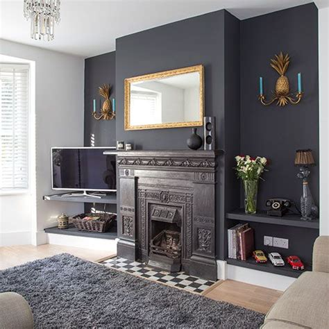 20 ways paint feature wall living room dark
